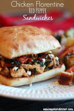This sandwich is soooooo GOOD.  It is loaded with flavor.  I adapted this  awesome marinade recipe from these Sweet Dijon Pork Chops ...