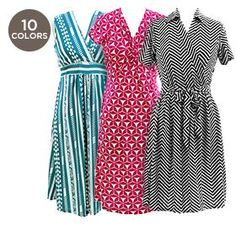 Printed Knee-Length Casual Summer Dress - Assorted Styles at 60% Savings off Retail!