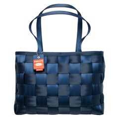 executive tote indigo :: indigo :: shop by color :: harveys seatbelt bags :: handbags :: Material Girl Handbags
