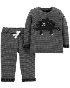 efb280eb23 2-Piece Dinosaur Top   Reversible Pant Set. Baby Boy TopsCarters Baby  BoysBaby KidsCute Baby ClothesCarters ...