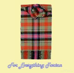 Bruce Of Kinnaird Ancient Clan Tartan Lambswool Fringed Scarf  by JMB7339 - $50.00
