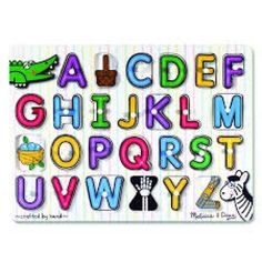 Buy Melissa & Doug: See-Inside Alphabet Wooden Peg Puzzle at Mighty Ape NZ. This wooden peg puzzle includes a piece for each of the twenty-six letters in the alphabet. A colourful picture under each piece shows an image beginn.