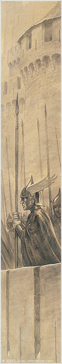 The Walls of Minas Tirith ~ John Howe