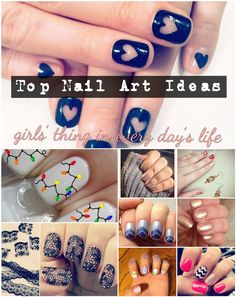 Top Nail Art Ideas- girls' thing in every day's life