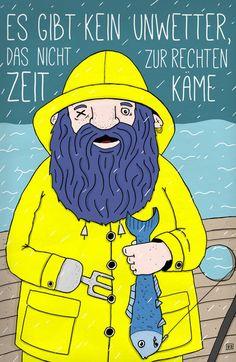 'Seemann ' von Bartosz Dronka bei artflakes.com als Poster oder Kunstdruck $17.19