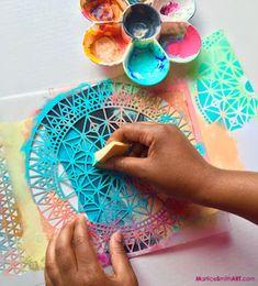 Art Journaling with StencilGirl Stencils