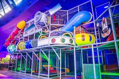 NEW - Designed and manufactured by #Iplayco. New installation at Moi Park, Mall of Istanbul. Large space themed indoor playground structure at a theme park. #softplay #weBUILDfun #forALLages #MoiPark