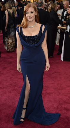 Seja bem-vinda ao red carpet do Oscar 2015: Jessica Chastain de Givenchy