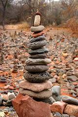 Buddha beach, Sedona...100s of cairns