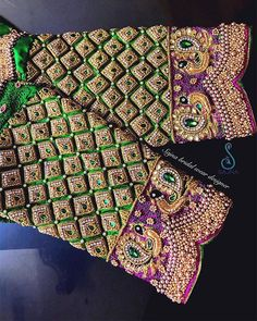 To get your outfit customized visit us at Chennai, Vadapalani or call/msg us at / for appointments, online order… Peacock Blouse Designs, Peacock Embroidery Designs, Cutwork Blouse Designs, Kids Blouse Designs, Wedding Saree Blouse Designs, Hand Work Blouse Design, Stylish Blouse Design, Blouse Neck Designs, Indie