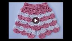 Knitting Embroidery Videos and Lessons Shorts Tejidos A Crochet, Crochet Shorts Pattern, Crochet Stitches Patterns, Stitch Patterns, Knit Crochet, Hardanger Embroidery, Hand Embroidery, How To Tie Shoes, Crochet Strawberry