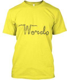 Study. Yellow T-Shirt Front
