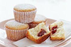 Lemon & almond cakes with raspberry