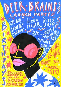Put this baby in your diary ~ Deer Brains shop launch party! @birthdays 22nd of August ~ be there!https://www.facebook.com/events/531581490...