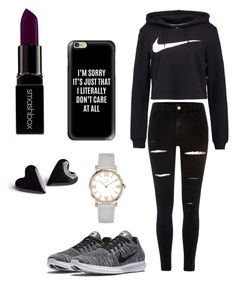 """""""NIKE"""" by x-julia ❤ liked on Polyvore featuring River Island, NIKE, Casetify and Smashbox"""