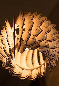 Pétalos lámpara colgante con alas Cortina de lámpara