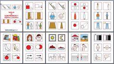 MATERIALES - Contrarios: adjetivos y adverbios: Baraja de contrarios.  El material, en formato doc y pdf, se compone de un libro y de una baraja de contrarios formada por adjetivos y adverbios.