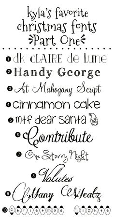 Kyla's Favorite Christmas Fonts: {Part One}