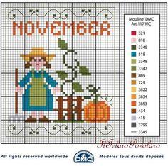A proposito di free... Voilà lo schema di novembre per il calendario perpetuo ''DMC'' - Blog di iltelaiopovolaro.over-blog.it