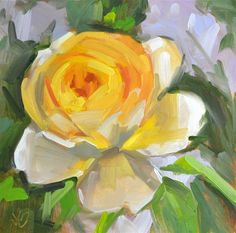 """Daily Paintworks - """"Rosie"""" - Original Fine Art for Sale - © Jessica Green Green Art, Big Flowers, Fine Art Gallery, Art For Sale, Canvas Art, Plants, Roses, Paintings, Art Gallery"""