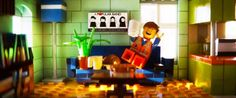 Emmet's Apartment from the Lego Movie