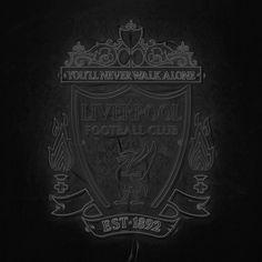 Liverpool Football Club, Liverpool Fc, Liverpool Wallpapers, European Soccer, You'll Never Walk Alone, Walking Alone, Ac Milan, Neon, Behance