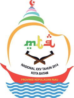 Logo MTQ Nasional 2014 Batam, Kepulauan Riau. Logo of National Quran Reading Festival 2014 Batam, Riau Islands (Indonesia)