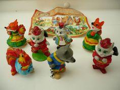 Landrin /   Katze Fuchs und Hahn    aus Russland  Komplettsatz