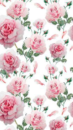 By Artist Unknown. By Arti Flower Phone Wallpaper, Print Wallpaper, Cellphone Wallpaper, Pattern Wallpaper, Iphone Wallpaper, Decoupage Vintage, Decoupage Paper, Flower Backgrounds, Wallpaper Backgrounds
