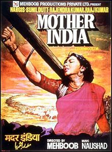 Mother India - A movie poster of a classic 1957 hindi movie. Via Wikipedia