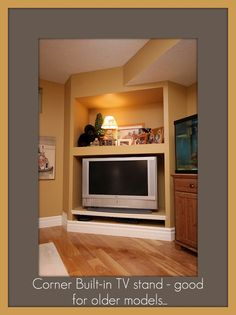 great use for a corner = build it tv cabinet