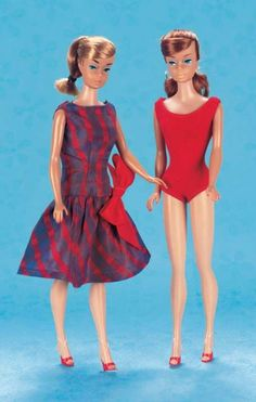 """Playful Art - The 20th Century Doll: 301 American """"Barbie"""" with Red-Haired…"""