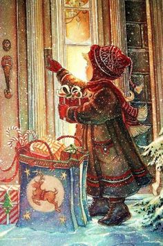 Santa Claus is Coming to Town Christmas Greeting Card belle individuel cartes