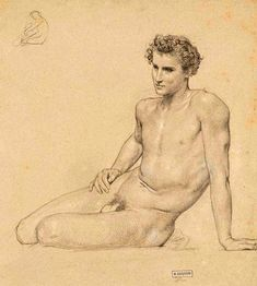 William-Adolphe Bouguereau (1825 – 1905) Study of a reclining man