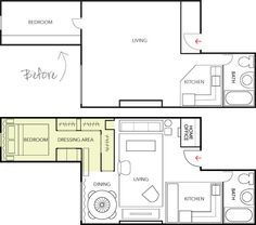 TheDesignerPad - The Designer Pad - Living In 500 Sq. Feet • The Bedroom