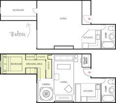 500 sq. ft. Floor Plan studio, office spaces, 500 sq ft apartment, floor plans, small spaces, blog, apartments, live