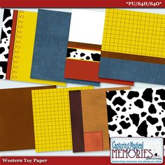 Western Toy Paper by Capturing Magical Memories for your #Disney digital #Scrapbooks - inspired by Wood and Jessie of Toy Story
