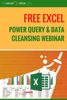 Free Excel Power Query & Data Cleansing Webinar That Will Transform Messy Data & Automate Your Reports Within MINUTES!   Learn Microsoft Excel Tips + Free Excel Tutorials & Cheat Sheets    The Most In-Depth Excel Video Courses Online at http://www.myexcelonline.com/138-23.html
