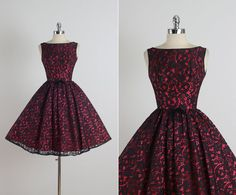 Drinks with Vincent . vintage 1950s dress . by millstreetvintage