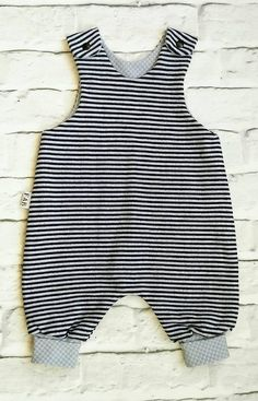Unisex romper, baby clothes, unisex baby, baby clothing, stripes, baby romper, baby shower, baby gift, navy, grey, gray