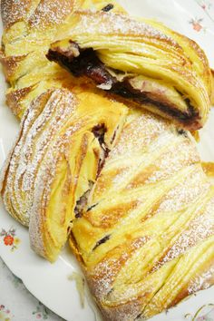 danish with marzipan and jam