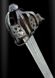 A fine Scottish basket-hilted broadsword, or claidheamb mor, by Thomas Gemmill, circa 1718-37 (PF #21 2010)
