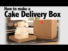 How to Make a Cake Delivery Box | Cake Business Tips  (I use this all the time, to transport my cakes)