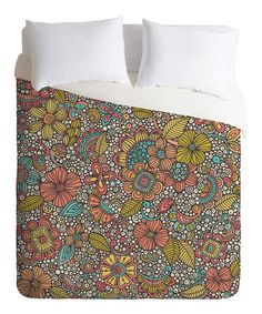 Look what I found on #zulily! Garden Doodles Duvet Cover by DENY Designs #zulilyfinds