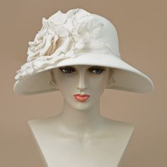 8330HLV Helena, winter white – Louise Green Millinery