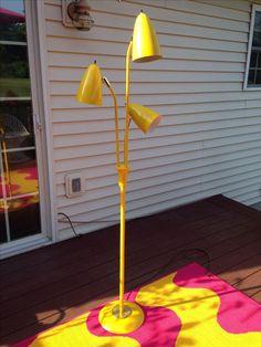 Yellow Mid Century Modern Bullet Floor Lamp on Chairish.com