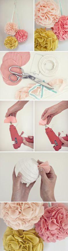 Painel / BackGround - DIY - Faça você mesmo - Festas - Reciclagem de Tecido - Party Decorations