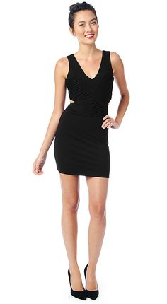 The Claudia is the sexier sister to our fun and flirty Fay dress. A prime example of the LBD, especially in the
