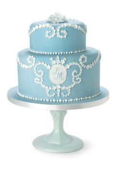 Two-tiered Wedgwood inspired traditional wedding cake, Pat-a-Cake Pat-a-Cake