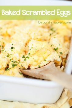 Baked Scrambled Egg Recipe | easier than stove top eggs and SO EASY!